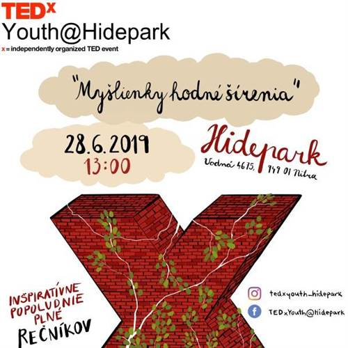 Konferencia TEDxYouth@Hidepark 2019