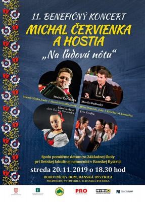11. benefičný koncert Michal Červienka a hostia