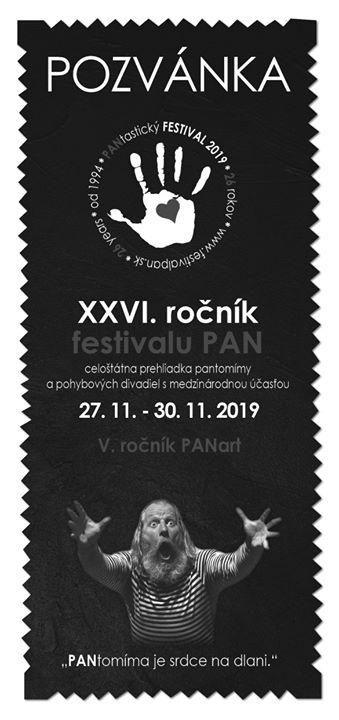 Festival pantomímy PAN 2019, 26. Ročník PANart